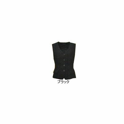 事務服・制服・オフィスウェア  ピエ V3100-99 ベスト 15号・ブラック