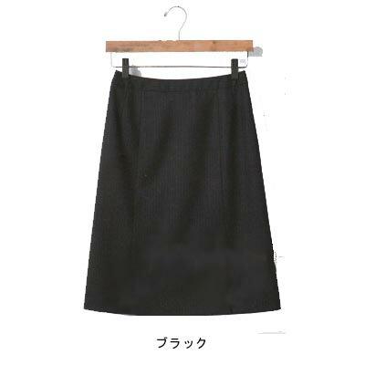 事務服・制服・オフィスウェア  ユニレディ U9131 セミタイトスカート  19号 ブラック20