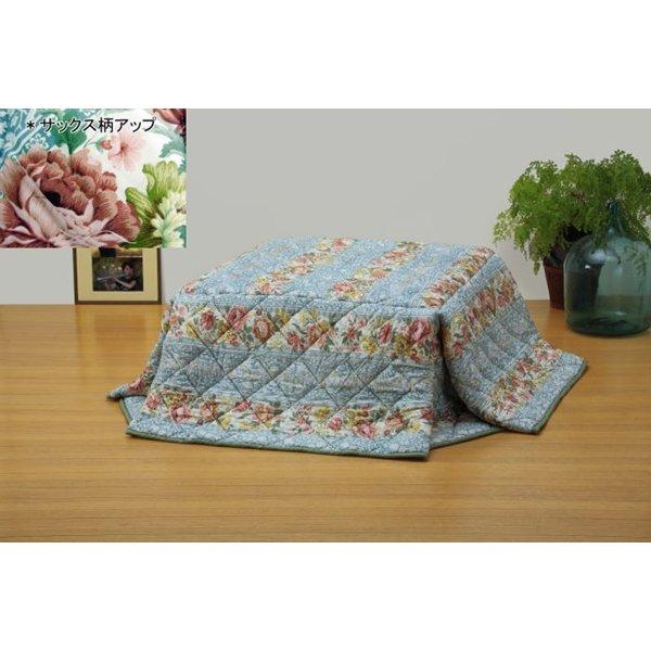 【送料無料】省スペースタイプ 軽くて暖か洗えるこたつ掛け布団 長方形(中) サックス
