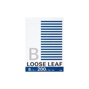 【送料無料】(業務用100セット) プラス ルーズリーフ NL-200B B5 26穴 B罫 200枚