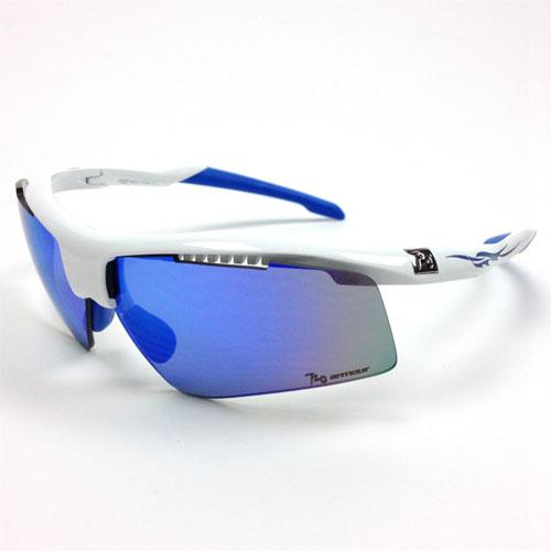 720アーマー Dart ホワイト/ブルー サングラス マグネット式レンズ着脱システム 【自転車】【ヘルメット・アイウェア】【サングラス】【720アーマー】