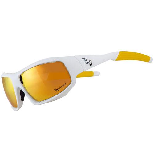 720アーマー Rock ホワイト/ゴールド サングラス マグネット式レンズ着脱システム