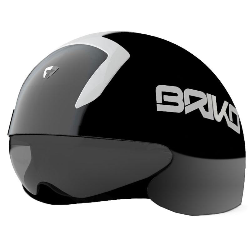 ブリコ クロノ シャイニーブラック/ホワイト ヘルメット