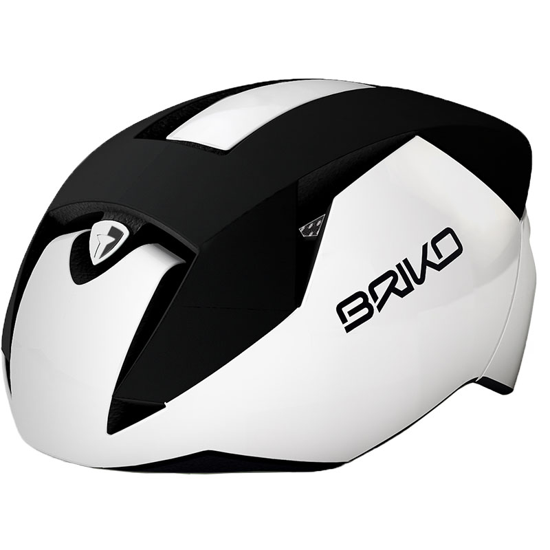 ブリコ ガス マットブラック/ホワイト ヘルメット