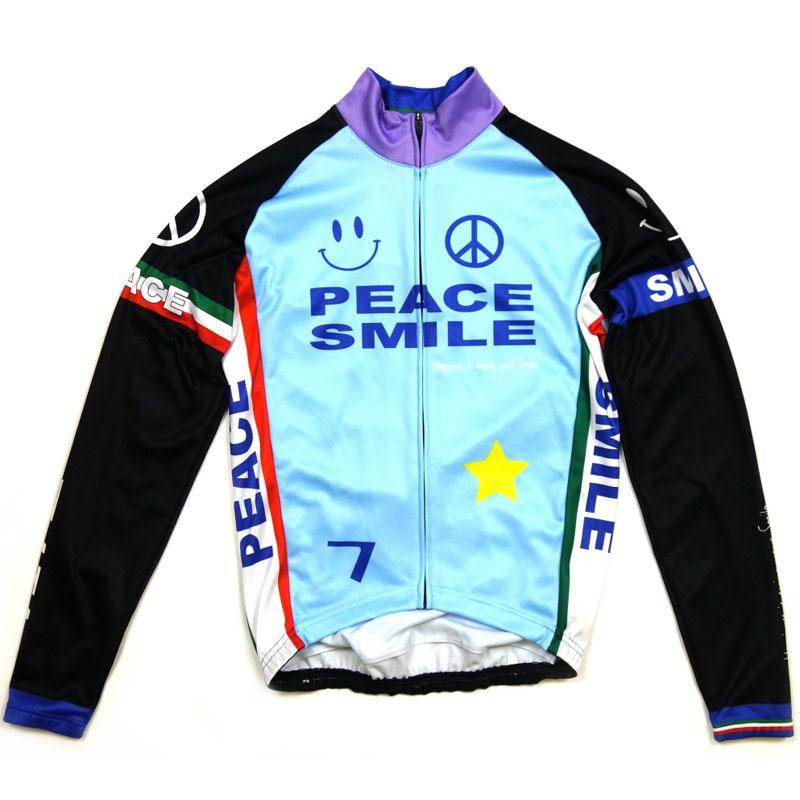 【現品特価】セブンイタリア Peace&Smile LS Jersey Sky Blue