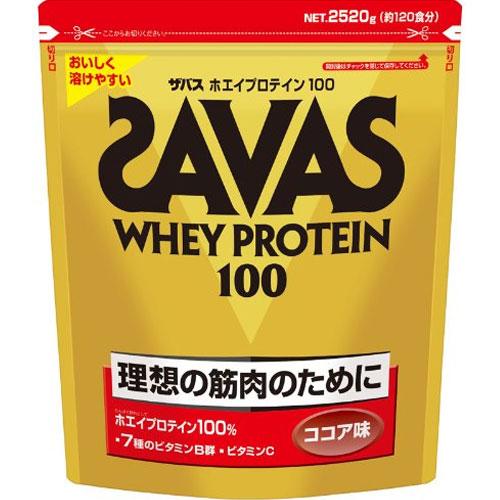 ザバス ホエイプロテイン100 ココア 2520g(120食分)