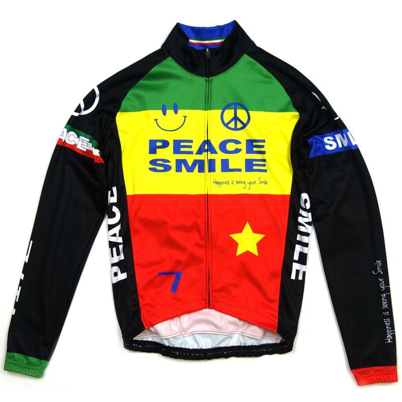 【現品特価】セブンイタリア Peace&Smile LS Jersey Rasta