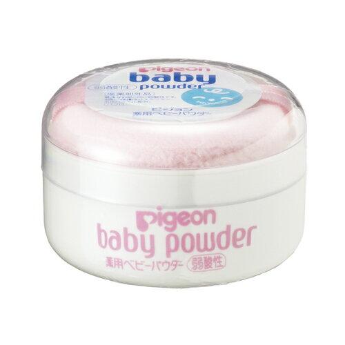 ピジョン 薬用ベビーパウダー(弱酸性) ピンクパフ付きx60個 Pigeon Baby powder 4902508070645