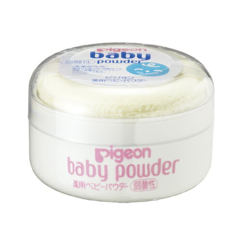ピジョン 薬用ベビーパウダー(弱酸性) イエローパフ付きx60個 Pigeon Baby powder 4902508070669