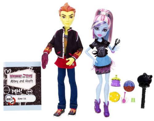 Monster High モンスターハイ Classroom Partners Home Ick Abbey Bominable and Heath Burns Doll, 2-Pa