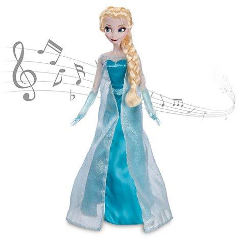 Disney USディズニー公式アナと雪の女王 Frozen フローズンエルサ Elsaシンギングドール 人形 フィギュア