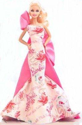 バービーAvon Exclusive Caucasian Rose Splendor Barbie Doll   T4349