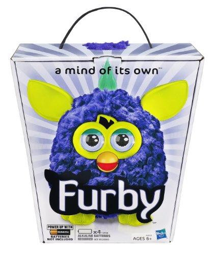 Furby, Plush, Yellow/Teal ファービー 2012年 3色コンビネーション 毛の房付き 最新版米国正