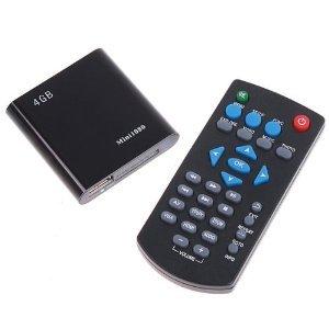 Mini 1080P HD HDMI SD/USB Media Player MKV/RM/RMVB 4GB Black
