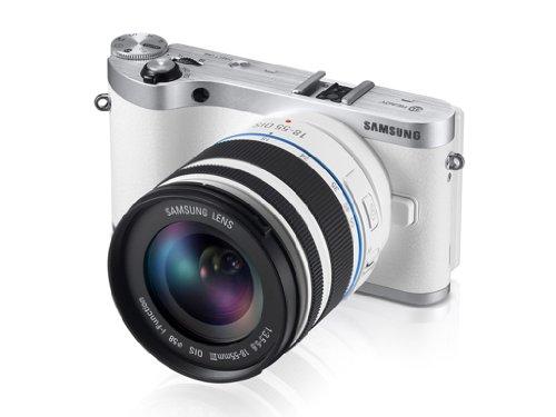Samsung NX300 スマート Wi-Fi 搭載 デジタルカメラ 20-50mm レンズキット  (ホワイト)