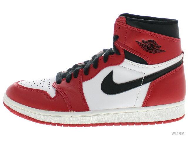 【US8】AIR JORDAN 1 1994 130207-101 white/black-red エアジョーダン 未使用品【中古】