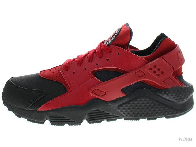 【US10】NIKE AIR HUARACHE RUN PRM 704830-006 black/gym red-gym red エア ハラチ 未使用品【中古】