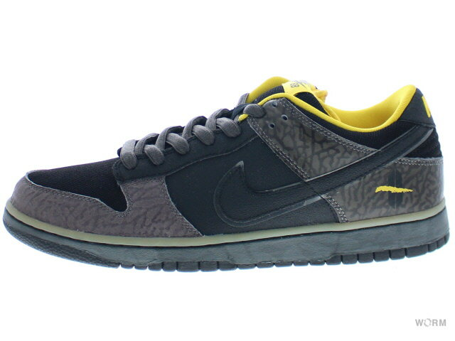 【US9.5】NIKE SB DUNK LOW PREMIUM SB YELLOW CURB 313170-010 midnight fog/black-yllw ochre ナイキ ダンク 未使用品【中古】