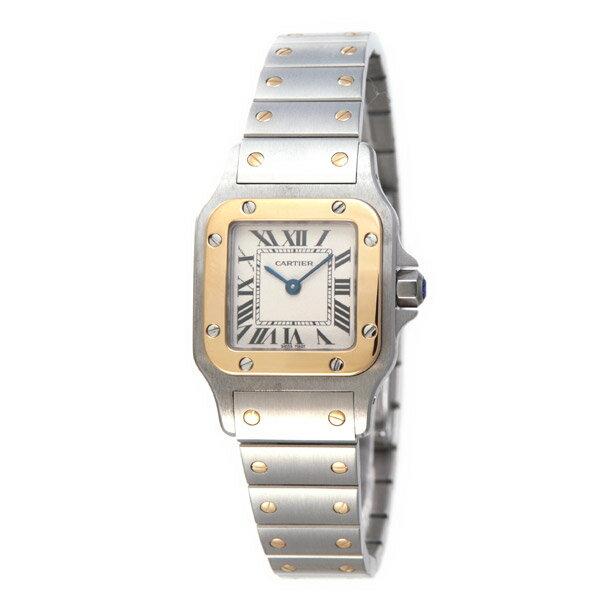 カルティエ 腕時計 レディース CARTIER 【サントスガルベ】 イエローゴールド SM ホワイト文字盤 W20012C4   【お取り寄せ】