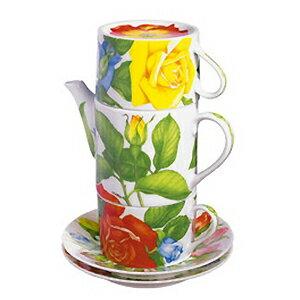 TAITU カップ&ソーサーセットCOFFEE・TEA FOR TWO(ティーフォートゥ)_ROSE(ローズ)ギフト 結婚祝い ローズ バラ ばら 薔薇カラフル おしゃれ イタリア食器 輸入食器
