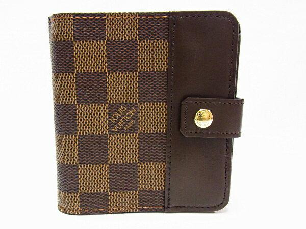 【中古】【程度A+】【美品】ルイヴィトン LOUIS VUITTON ダミエ N616682つ折り財布 サイフ コンパクトジップ