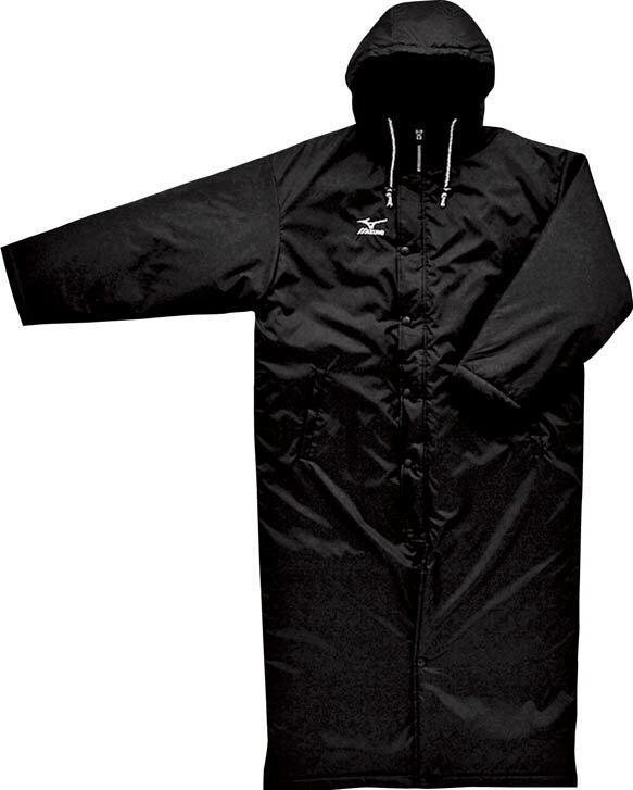 ミズノ MIZUNOコート(スーパーロング) 09:ブラック (A60JB15209)【【送料無料】】