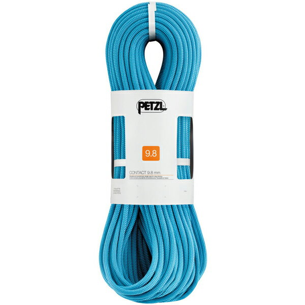 安心 PETZL ペツル コンタクト 9.8mm/Turquoise/80 R33AT080
