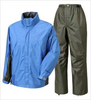 PuroMonte(プロモンテ) ゴアテックス レインスーツ ウィメンズ/ブルー/チャコール/L SR118Wレインウエア レディースファッション レインスーツ上下セット レインウェア女性用 アウトドアウェア