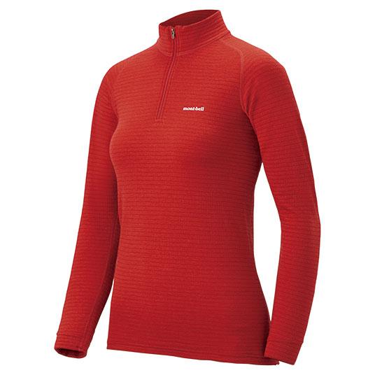 mont-bell モンベル SPMW EXP. ハイネックシャツ WS/RDBR/S 1107584女性用 レッド