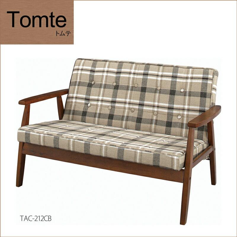 Tomte(トムテ) 「トムテ 木フレームソファ 」 天然木 チェック柄 ノルディックデザイン