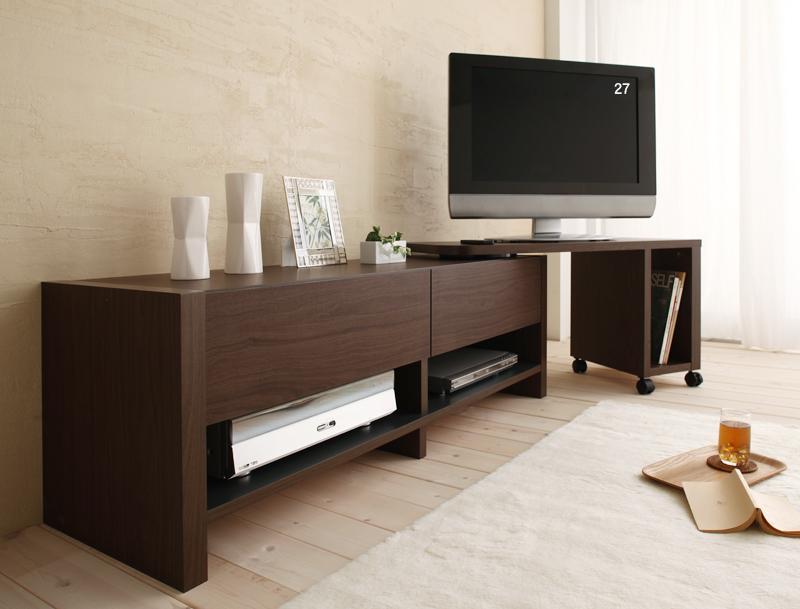モダンデザインフリースタイルテレビボード 「BOLD」ボルド ロータイプ本体W160 & スイングボード
