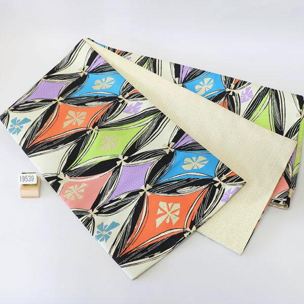 袋帯 合繊 全通 振袖用 両縁縫い上げ済 日本製 新品 (株)安田屋 b185332619