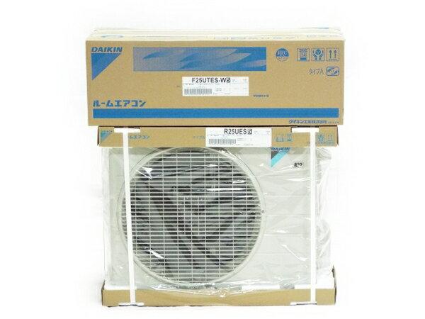 未使用 �中�】 DAIKIN ダイキン ルームエアコン Eシリーズ S25UTES-W (F25UTES-W+R25UES) 17年モデル  T2801033