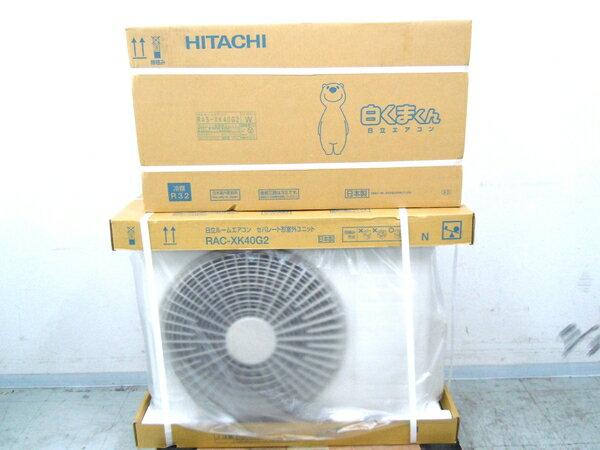 未使用 【中古】 日立 エアコン 白くまくん RAS-XK40G2 RAC-XK40G2 室内機 室外機 冷房 11畳-17畳 暖房 11畳-14畳 【大型】  M2398456