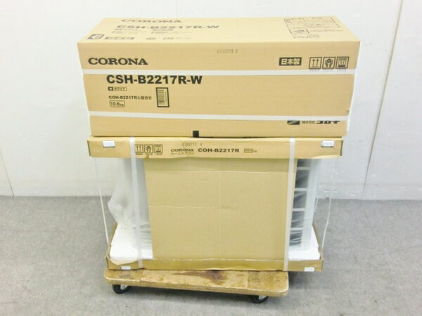 未使用 【中古】 未使用 CORONA コロナ CSH-B2217R エアコン 6畳用 室内機 室外機 セット 【大型】 O2580518