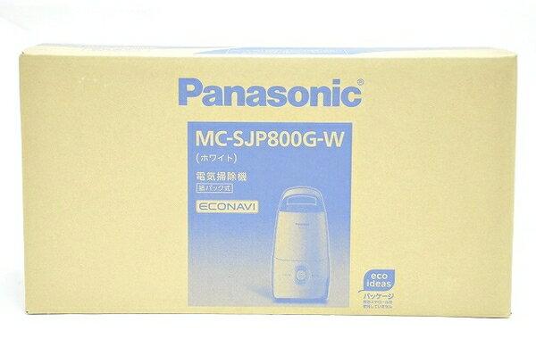 未使用 【中古】 Panasonic パナソニック 紙パック式掃除機 MC-SJP800G-W (パナソニックショップ限定・MC-JP800G同等品)  T2651815