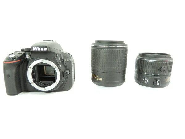 【中古】 Nikon ニコン D5300 ダブルズームキット2 カメラ デジタル一眼レフ ブラック Y2683951