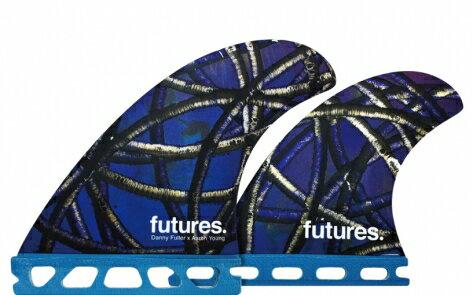 送料無料フューチャーフィンシステム(FUTURES FINS)ダニーフューラーヘキサライト4本セットRTM HEX DANNY FULLER QUAD・400REAR/BLUEフィン サーフィン 選び方 サーフィン グローブ ブーツ デッキパッド ローカル 初心者 修理