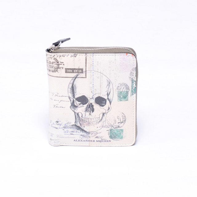 アレキサンダーマックイーン (Alexander McQueen) レターフロムインディア二つ折り財布 オフホワイト430705dyi0n8490 メンズ 送料無料 正規取扱