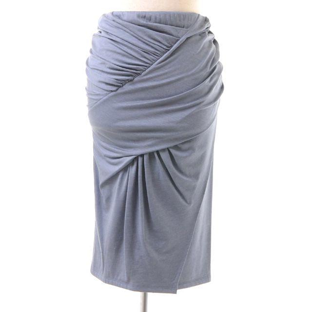 アンヴァレリーアッシュ (Anne Valerie Hash) ウールジャージーシャーリングスカート ブルー 330-mab-013 10,800円以上購入で送料無料 【正規取扱】