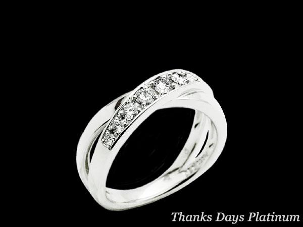 正規モデル( Pt950)  プロポーズアゲイン 永遠の感謝をプラチナに刻んで Thanks Days Platinum リング(ダイヤモンド0.3ct)【RCP】【送料無料】10P02Sep17