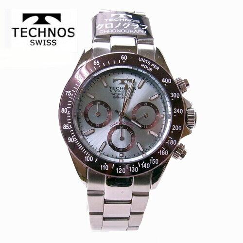 テクノス(TECHNOS)腕時計  クロノグラフ 10気圧防水 T4251AI アイスブルー【RCP】【最安値挑戦】【送料無料】【楽ギフ_包装】【半額】02P02Sep17