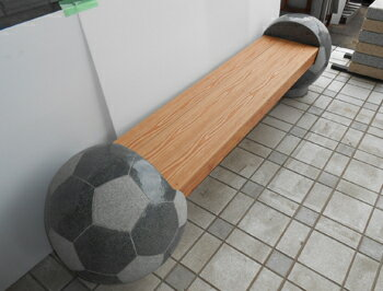 サッカーボールベンチ アルミ座版付 435kg