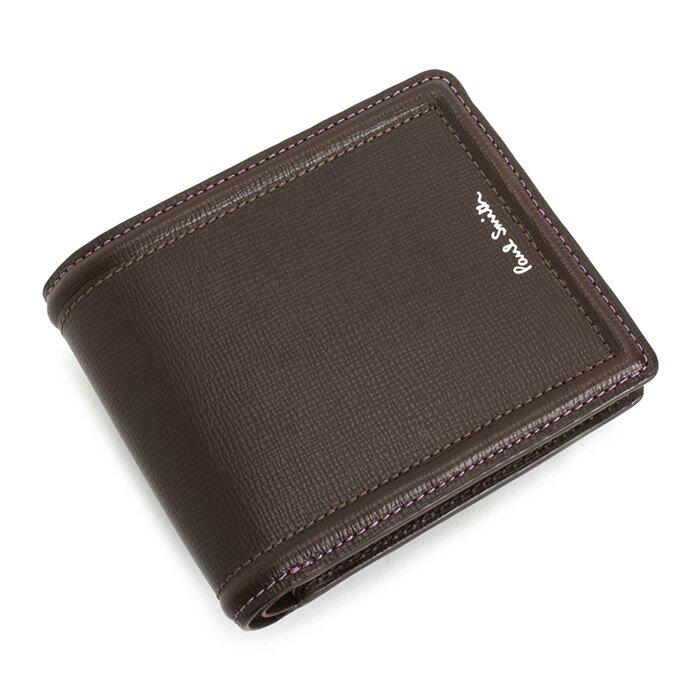 値段が激安 ポールスミス 財布 二つ折り財布 チョコ Paul Smith psc024-71 メンズ 紳士 【送料無料】