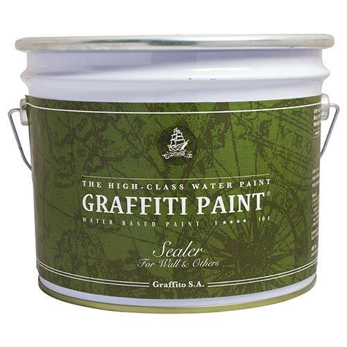 【取寄】GFS 10L プロ用シーラー(透明)グラフィティーペイント[1個] Graffiti Paint /ペンキ/水性塗料/ タバコのヤニ、アクの染み出しを防止/塗料・塗装専用/下塗り・下地剤/リノベーション/グラフィティーペイント