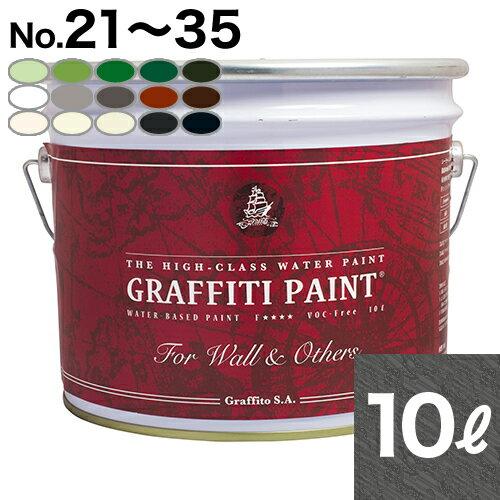 【取寄】GFW 10L プロ用 ウォールアンドアザーズ・屋外使用可【No.21からNo.35】の15色(全35色中)からお選びください。[1個単位] Graffiti Paint /ペンキ/水性塗料/木材・家具塗装/ツヤ無/グラフィティーペイント