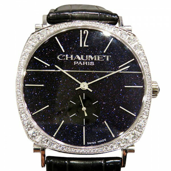 ショーメ CHAUMET ダンディ ブラック文字盤 メンズ 腕時計 【中古】