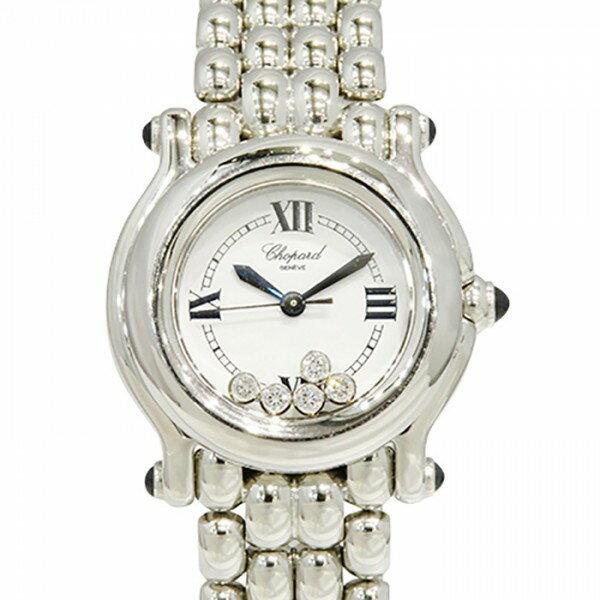 ショパール CHOPARD ハッピースポーツ ホワイト文字盤 レディース 腕時計 【中古】