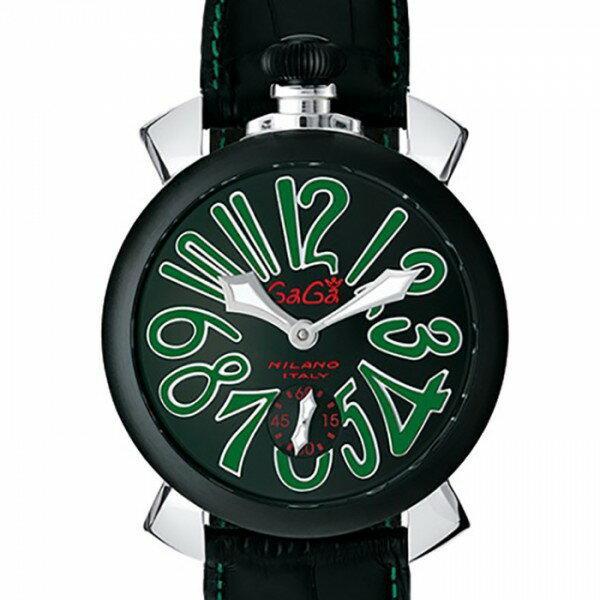 ガガミラノ GAGA MILANO マニュアーレ 5013.02S ブラック文字盤 メンズ 腕時計 【新品】
