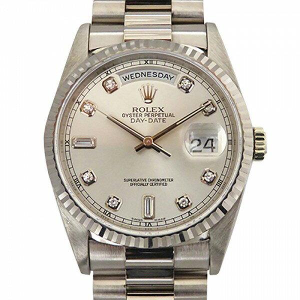ロレックス ROLEX デイデイト 18239A シルバー文字盤 メンズ 腕時計 【中古】